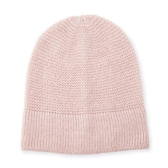 877b7268c11db Rebecca Minkoff Light Pink Headphone Beanie Hat